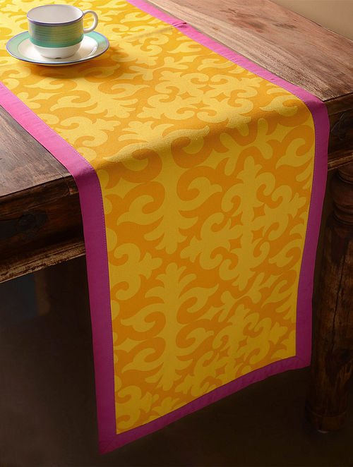 Yellow Shrydak Table Runner  60in x 14in
