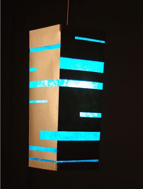 Stripes Rectangular Hanging Lamp (Collapsible)