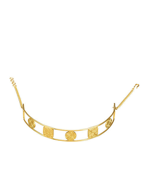 Gold Plated Brass Choker Necklace