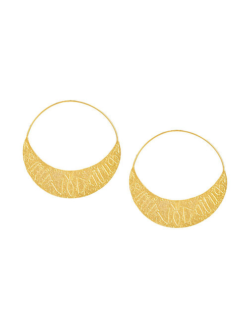 Gold Plated Brass Hoops