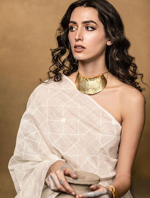 Gold Plated Brass Choker Necklace