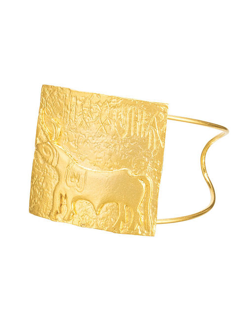 Gold Plated Handcrafted Cuff