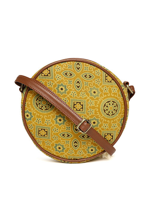 Multicolored Handcrafted Block Printed Cotton Sling Bag