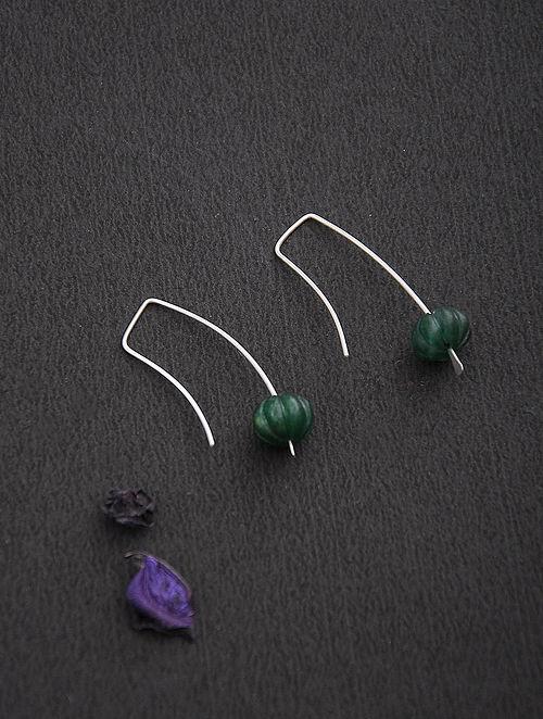Aventurine Silver Earrings