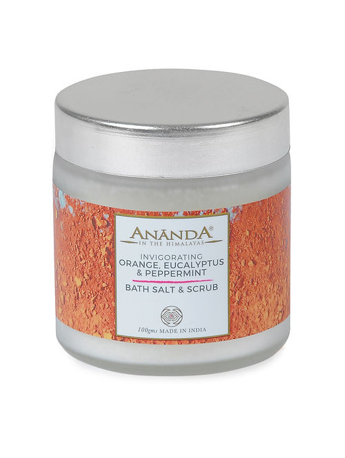 Orange, Eucalyptus and Peppermint Bath Salt and Scrub - 100gms