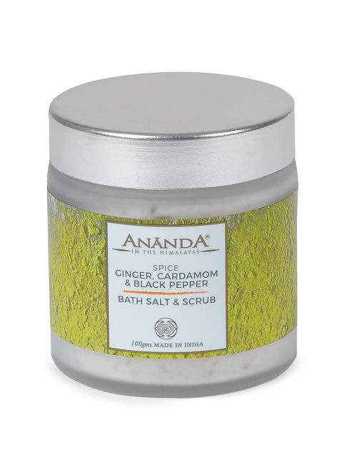 Ginger, Cardamom and Black Pepper Bath Salt and Scrub - 100gms