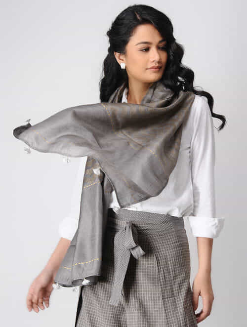 Kashish Khari-printed Mulberry Silk Stole