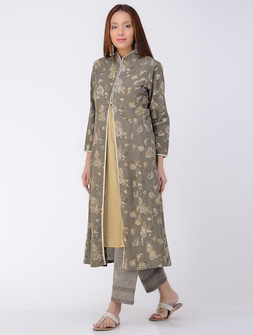 Kashish Dabu-printed Cotton Jacket with slip (Set of 2)