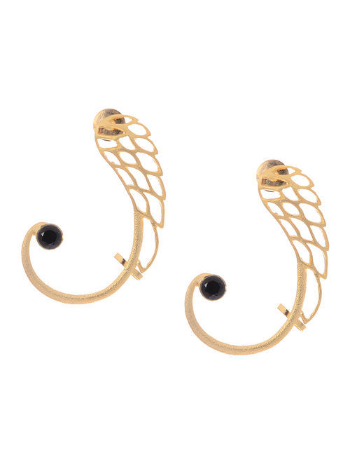 Blue Gold-plated Earrings