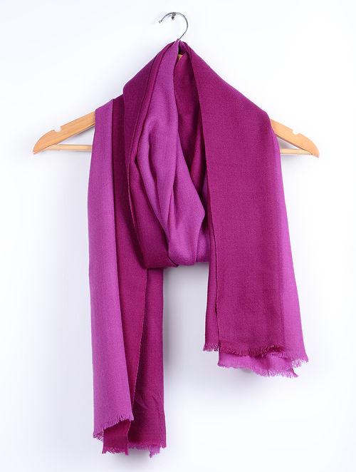 0f40da91b1 Buy Burgundy-Peony Purple Ombre Finest Merino Wool and Silk ...