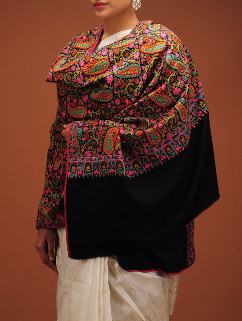 Buy Butedar All Over Hand Embroidered Fine Wool Shawl