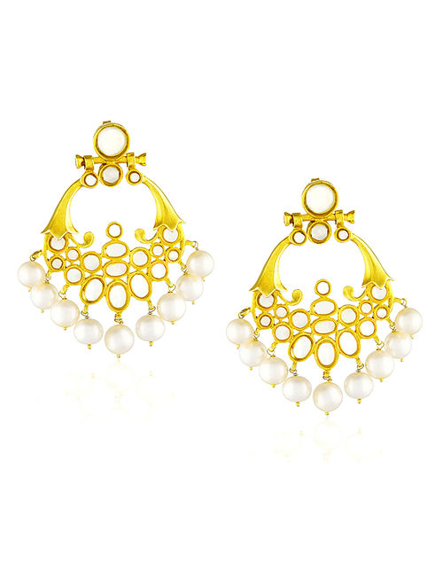 Mother of Pearl Gold-plated Silver Earrings