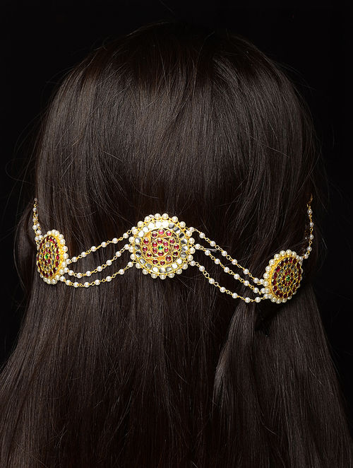 Pink Gold-plated Silver Hair Accessory
