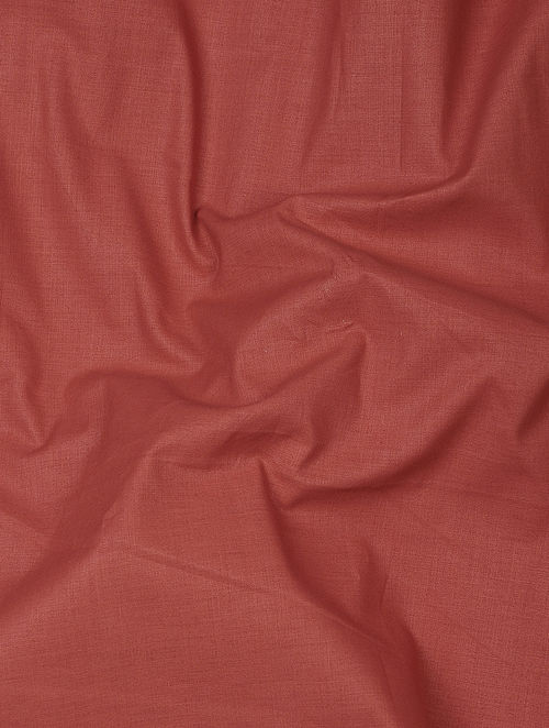 Red Herbal-dyed Cotton Fabric