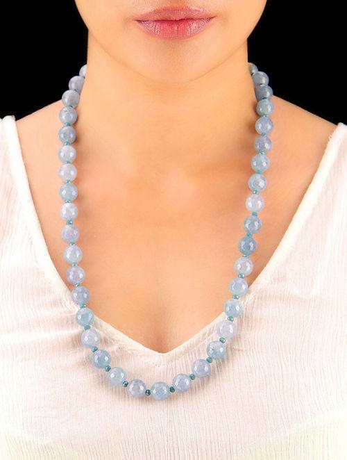 Ice Grey Hand Beaded Necklace
