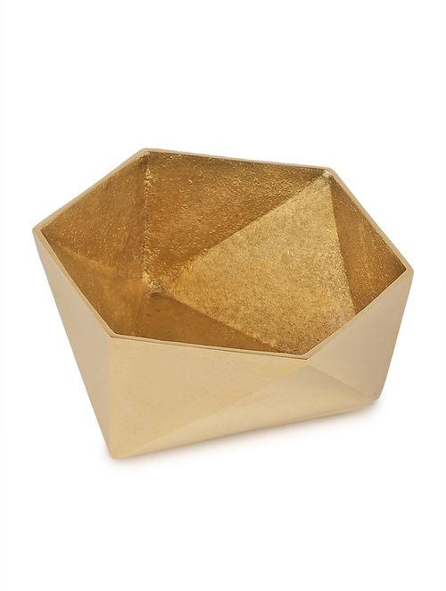 Buy Dull Golden Origami Bowl S By Anantaya 41in X 44in X 16in