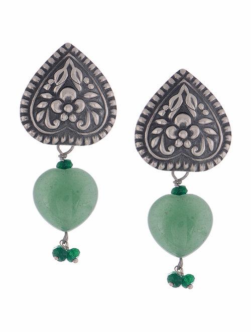 Buy Ethno Green Onyx Silver Earrings Online at Jayporecom : akijwj000130552 12 from www.jaypore.com size 500 x 662 jpeg 40kB