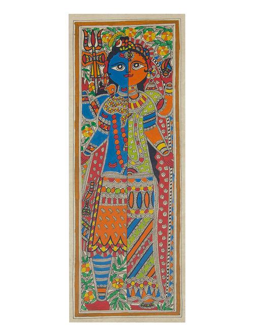 Buy Multicolor Shiva Ardhnarishwar Madhubani Painting 22