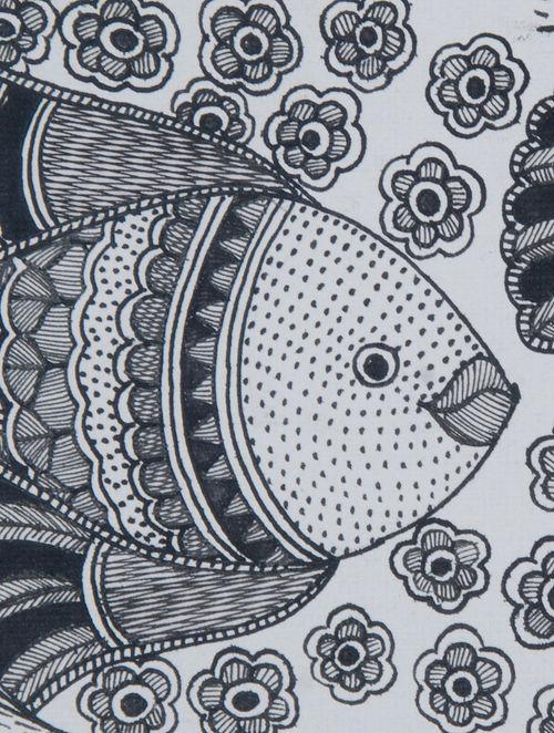 madhubani paintings in black and white  Buy Black
