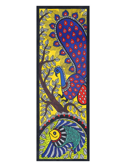 Buy Peacock with Fish Madhubani Painting Online at Jayporecom : amiarj000167480 1 from www.jaypore.com size 500 x 662 jpeg 89kB