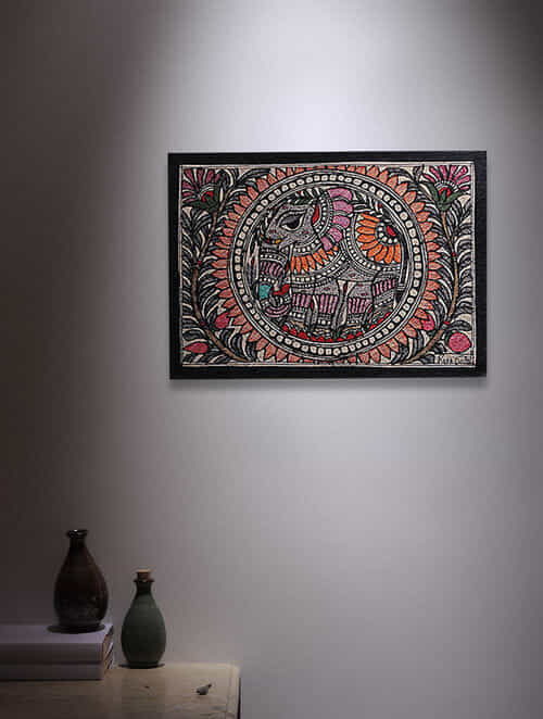 Buy Elephant Madhubani Painting 5 6in X 7 6in Online At