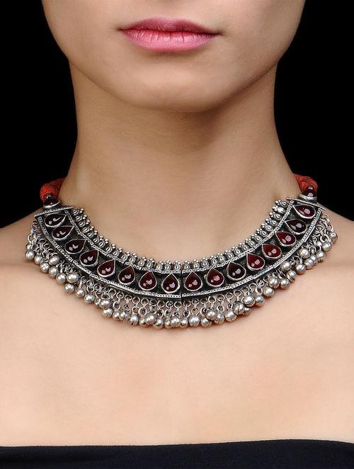 Ethno Silver Choker Necklace by Amrapali