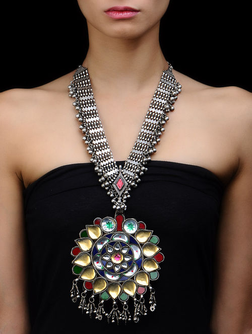 Buy Tribal Silver Necklace By Amrapali Online At Jaypore Com