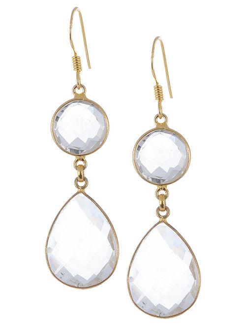 Buy Clear Quartz Silver Earrings by Aurora Online at  : aurjwj000100811 12 from www.jaypore.com size 500 x 662 jpeg 31kB