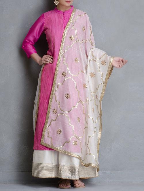 Buy White Gota Patti Jali Cotton Dupatta Online At Jaypore Com