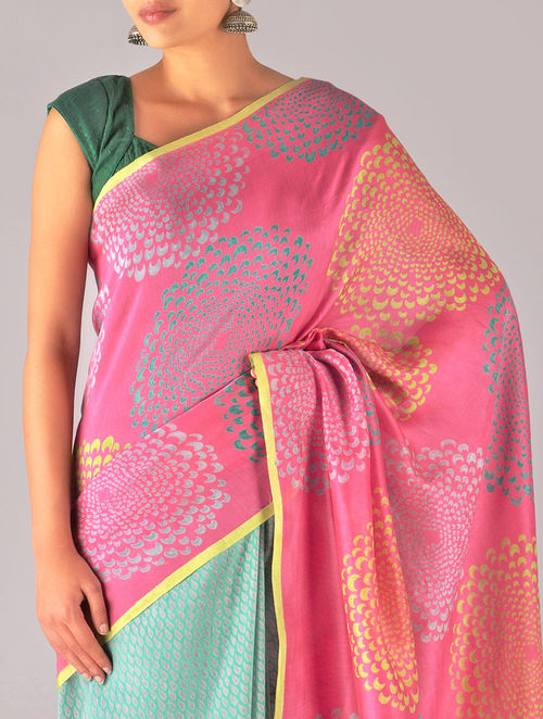 cac983ff5 Buy Moon Flower Chanderi Silk Saree Online at Jaypore.com