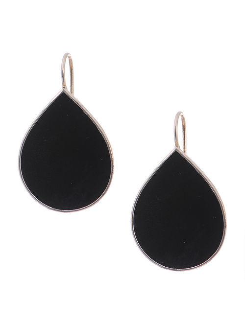 c9baaeec3c6 Buy Black Enameled Silver Earrings Online at Jaypore.com