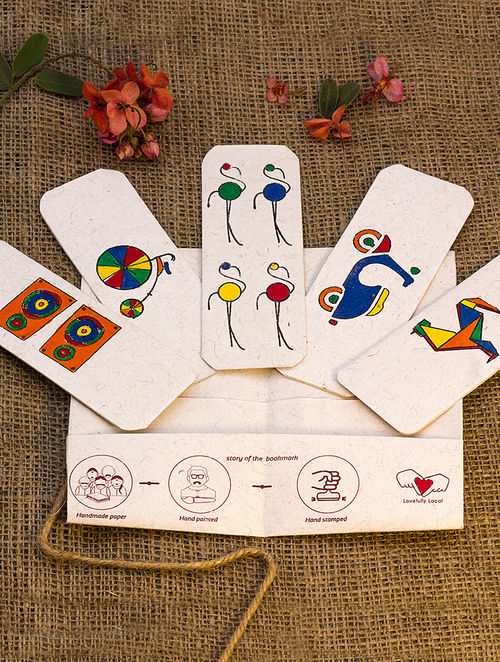 Multicolored Handmade Bookmark-Set of 5