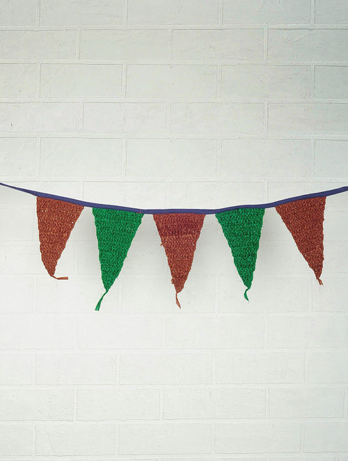 Recycled Chindi Bunting 60in x 11.5in
