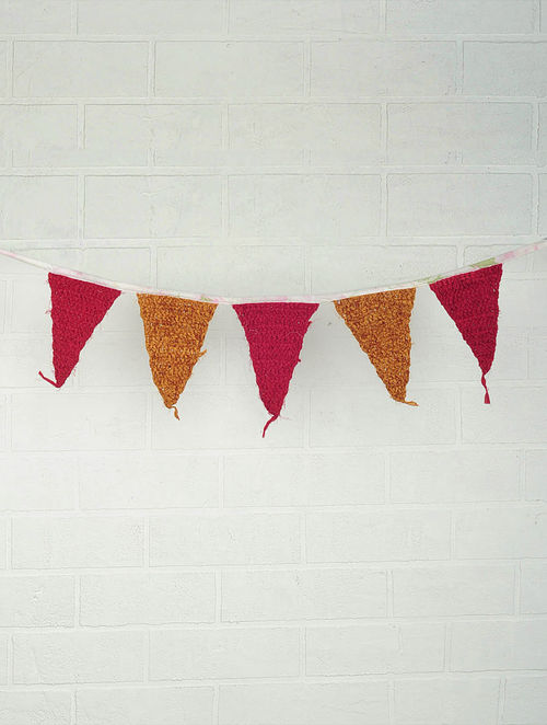 Recycled Chindi Bunting 58in x 10in