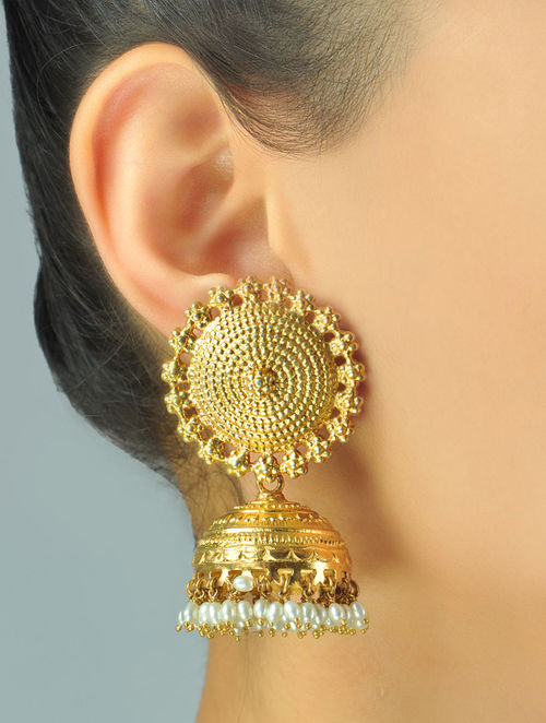 Buy Sooryan Jhumka Earrings Online At Jaypore.com