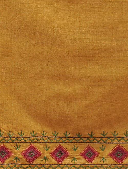 Buy Mustard Embroidered Table Runner 43in X 12 5in