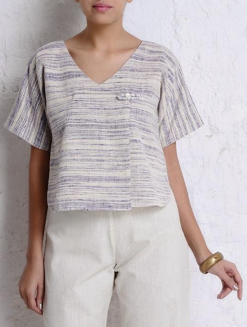 Buy Purple Ivory Handspun Khadi Magyar Sleeve Jacket