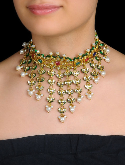 Buy Ethno Kundan Choker Necklace Online At Jaypore Com