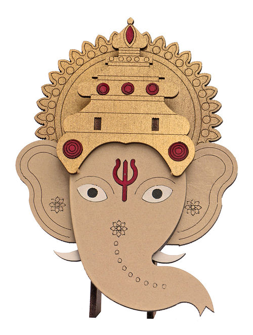 buy lord ganesha diy puzzle in wood online at jaypore com