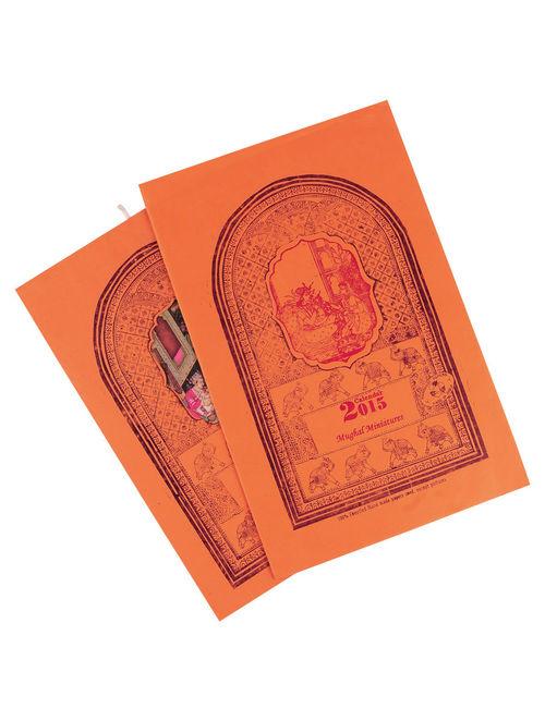 Mughal Miniature-Calendar 2015  15in x 10in