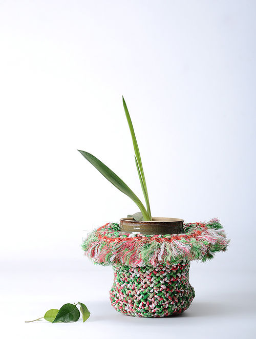 Buy Green Ivory Braided Recycled Cotton Container Online  : errhoj000202939 15 from www.jaypore.com size 500 x 662 jpeg 44kB