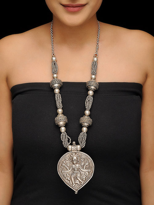 laos info product vintage french antique necklace indochina silver