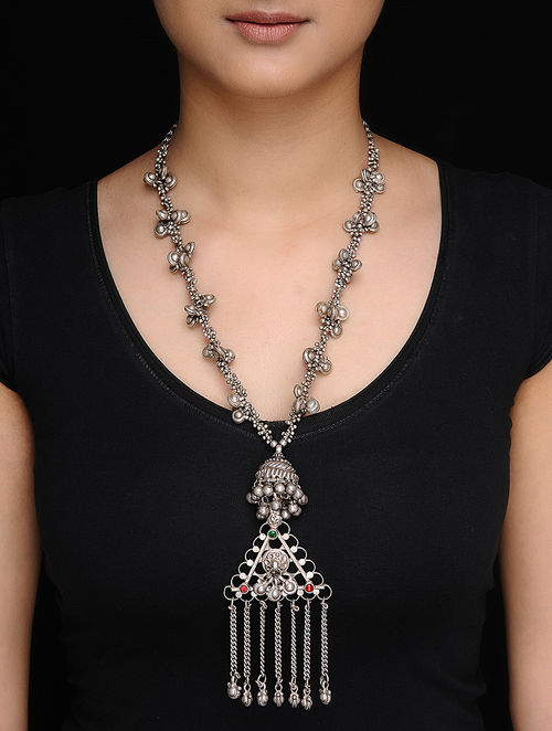 vintage for mala designs the silver jewellery ko necklace women antique kasu products yakshi