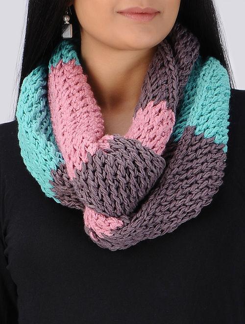 Buy Hand Knitted Woolen Snood Muffler Online At Jaypore Com