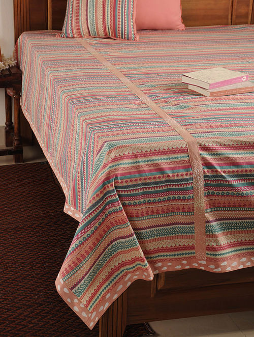 Valli Multicolor Double Bed Cover 107in X 90in