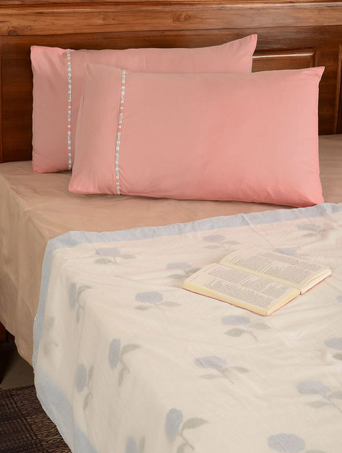 Soft Pink Pillow  Cover-Set of 2