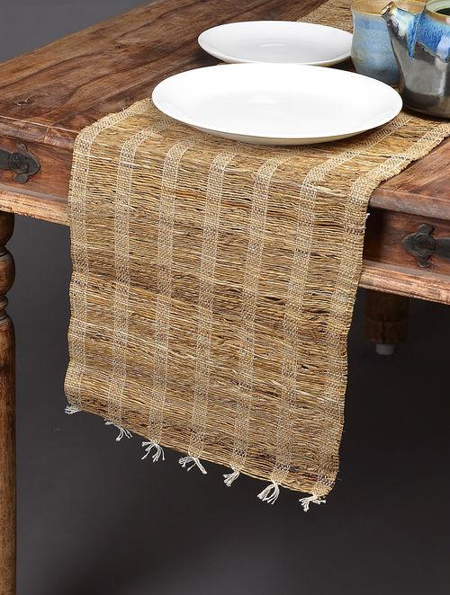 Buy Brown Less Warp Banana Fibre and Cotton Table Runner Online at  Jaypore com