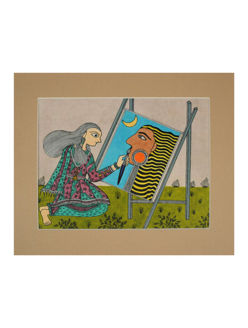 Amita Madhubani Art Panel-Pratibha