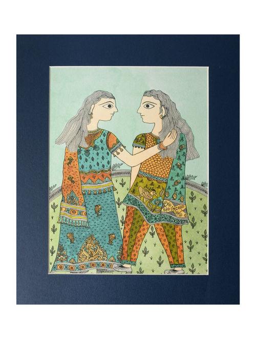 Amita Madhubani Art Panel-Mita