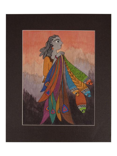 Amita Madhubani Art Panel-Dipti
